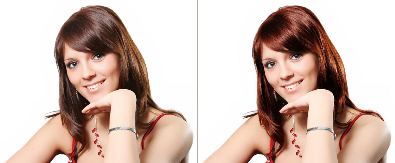 Как сделать волосы другим цветом фотошоп